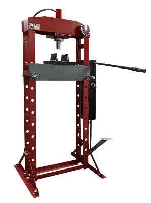 Werkstattpresse Hydraulikpresse, Stand, 20 t, manuell: Hand- & Fußbetrieb, Kolbe Werkstattpresse 20 t Werkstatt Einrichtungen