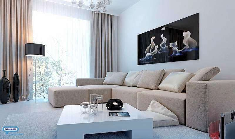 Bild 1 von 10 - Wohnzimmer-Symbolbild