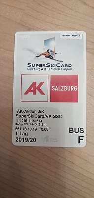 Tages Schi Karte - Salzburger Super Ski Card - Kinder oder Jugendliche