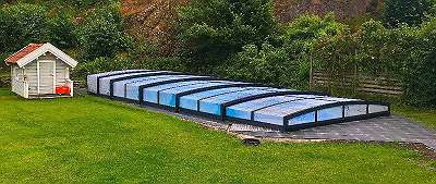 Überdachung SPECIAL Box– 8,76x5,19x0,72 mit eine Gleitschiene