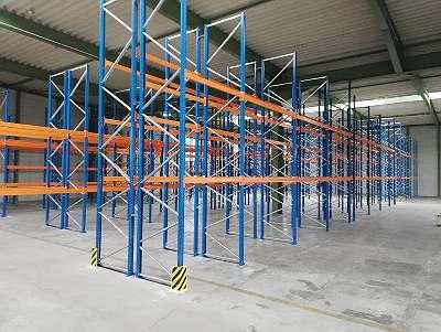 40 lfm Palettenregal Nedcon H 5,5 m T 110 cm Auflast / Fach 3050 kg