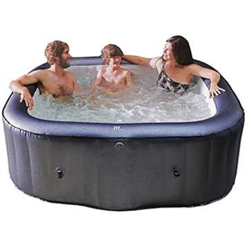 Premium Whirlpool Outdoor Otium Spa aufblasbar 185x185cm + Vollausstattung ! Außenwhirlpool Hot Tub Wellness für 6 Personen (Badewanne) (American / Bubble Spa) - SONDERAKTION !