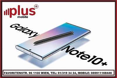 SAMSUNG GALAXY NOTE 10 PLUS 512GB SCHWARZ, NEU`WERTIG`, WERKSOFFEN, GARANTIE, PLUS MOBILE !
