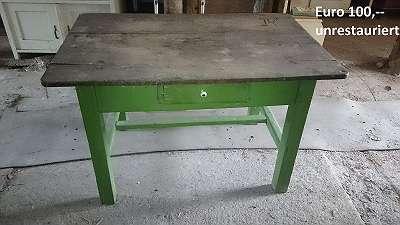 Alte Tische, Esstische, Bauerntische, Alter Tisch, Esstisch, Bauerntisch, Jogltisch, Tischerl, Schreibtische