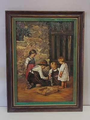Kinder mit Bauklötzen spielend