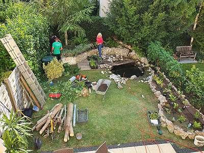 Gartenplanung Gartengestaltung Gartenbau Bewässerung Rollrase Pflastern Terrasse Verfliesen Zaunbau Landschaftsbau Pflasterung Teich