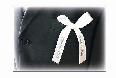 Andenken an die hl. Firmung: Schleifchen für den Anzug *HORNdeko 1010 Wien*, Versand in ganz Österreich möglich