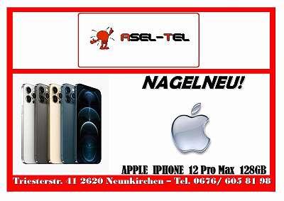 AKTION NAGELNEU! NOCH VERSIEGELT! WERKSOFFENE APPLE IPHONE 12 PRO MAX 128GB IN BLUE SILBER UND GRAPHIT!