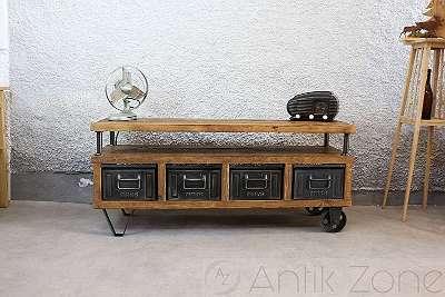 Industrial TV Tisch | Vintage Möbel