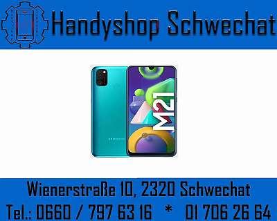 SAMSUNG GALAXY M21 64GB / NEU / WERKSOFFEN / BLACK / BLUE / MIT VOLLER HERSTELLERGARANTIE / HANDYSHOP SCHWECHAT WIENERSTRASSE 10 2320 SCHWECHAT
