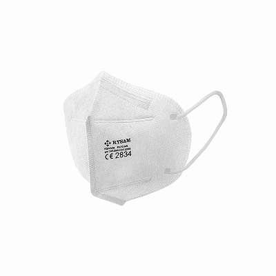 5 Stück - Atemschutzmaske - FFP2 NR - CE Zertifiziert - Weiß