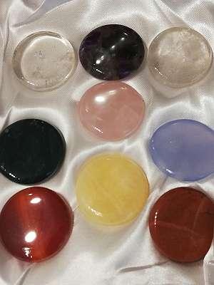 Chakrenset Steinset 9 teilig Esoterik Mineraliensammlung