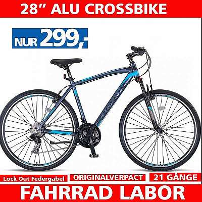 2021 - Neu Crossbike 28 Zoll - Alu Rahmen - Crossbike - 21 Shimano Gänge - Lock Out Federgabel