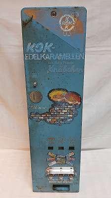 Warenautomat KOK Edelkaramellen Automat (ähnlich PEZ Automat)