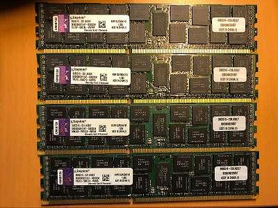 64GB 4x16GB Server Rams Kingston KVR13LR9D4/16I (16GB, PC3-10600 (DDR3-1333), DDR3 SDRAM, 1333 Mhz, DIMM 240-pol.) RAM Module mk1 zz 012 tng