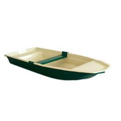 Alpha Composite Mini Boot, Fischerboot, Angelboot, Motorboot, geeignet für Still und Fließendes Gewässer, optimal für mobiles Angeln, da leicht auf Gepäckträger zu montieren, für 2-3 Personen, Boot ist mit Ruder- oder Motorhalterung