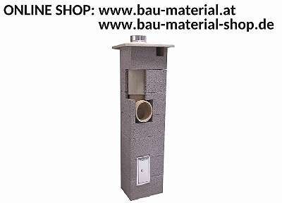 Schornstein Kamin massiv Rundrohr Bausatz 18 cm und 20 cm (isoliert)