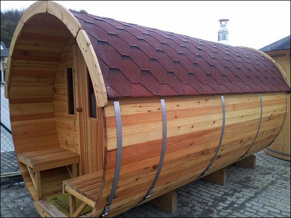 fass sauna mit umkleideraum 3 50 m lang 2 20 m in nordischer fichte 4716. Black Bedroom Furniture Sets. Home Design Ideas