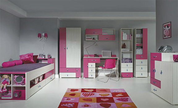 komi c komplettes jugendzimmer in verschiedenen farben f r m dchen und buben in aktion 1. Black Bedroom Furniture Sets. Home Design Ideas
