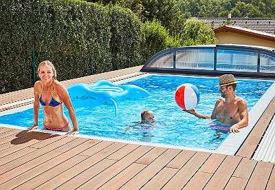 AKTION IM HERBST Überlauf - Schwimmbecken 600x300x150 cm, Pool - Set - kein Ausgleichsbecken erforderlich!