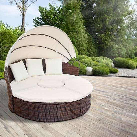gartenm bel sonneninsel gartenlounge sitzgarnitur sonnenliege rattan lounge neu model desk. Black Bedroom Furniture Sets. Home Design Ideas