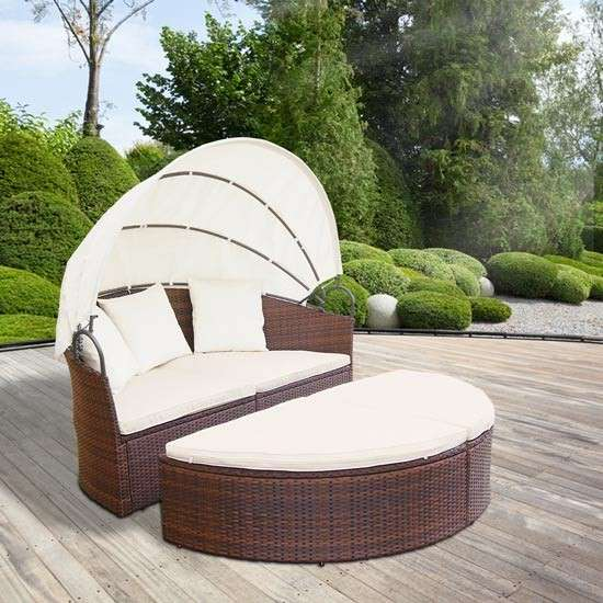 aktion gartenm bel sonneninsel sonnenliege gartenlounge sitzgarnitur rattan lounge neu model. Black Bedroom Furniture Sets. Home Design Ideas