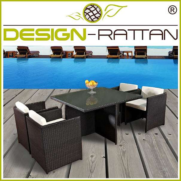 Gartenmobel Terrasse Gunstig : Rattanmöbel CubeSet NASSAU Selection 120x120cm  HOTELLine, € [R