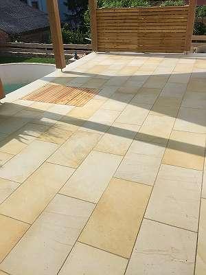 Bodenplatten in Ihren Wunschmaßen - Sandstein gelb