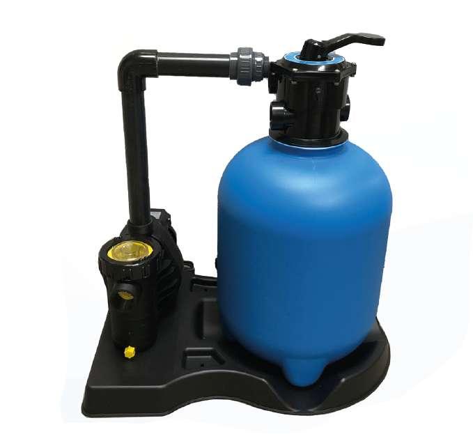 Sandfilteranlage Pool Filter Sandfilter mit Pumpe 8 m³ und Vorfilter SPLASH 250