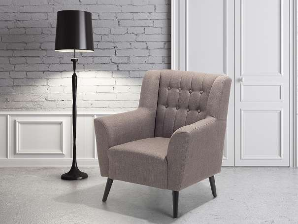 Sessel Grau-Braun - Relaxsessel - Fernsehsessel - Chefsessel - Polstersessel - ROSKILDE - Wien - Rabatt in Höhe von 10 €! Um den Rabatt zu erhalten geben Sie bei der Bestellung den Code WH98AT ein. Der Sessel ist gut kombinierbar. Seine elegante, anmutige Art wird den Charakter ihres Wohnzimmers verändern. Die Chesterfield-Struktur in der  - Wien