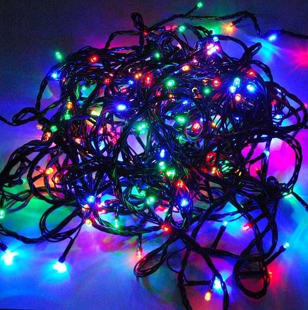 neu 100 leds lichterkette bunt weihnachten beleuchtung. Black Bedroom Furniture Sets. Home Design Ideas