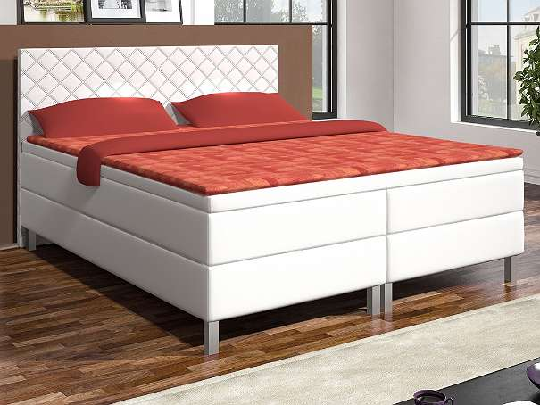 boxspringbett madrid 180x200 cm kunstleder wei 599 90 6311 wildsch nau. Black Bedroom Furniture Sets. Home Design Ideas