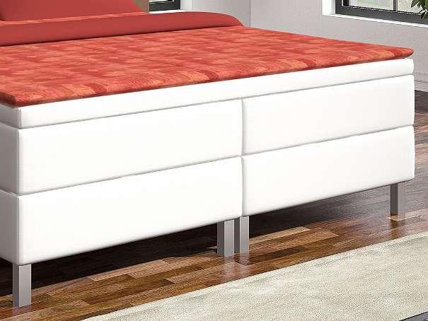 boxspringbett madrid 180x200 cm kunstleder wei 599 90 6311 wildsch nau. Black Bedroom Furniture Sets. Home Design Ideas