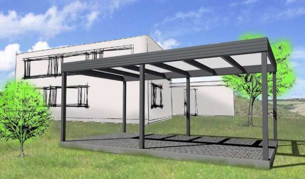 carport alu excellent alucarports typ d with carport alu alu carport in with carport alu. Black Bedroom Furniture Sets. Home Design Ideas