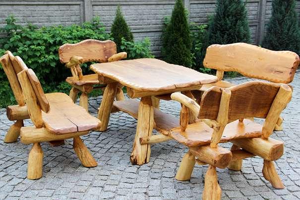 eiche h 100 eiche vip gartengarnitur vollholz eichenholz rustikale gartengarnitur neu. Black Bedroom Furniture Sets. Home Design Ideas