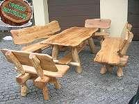 Rustikale Sitzgruppe Gartengarnitur Eiche