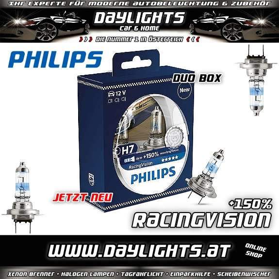philips h4 h7 racing vision racingvision 150 duobox. Black Bedroom Furniture Sets. Home Design Ideas