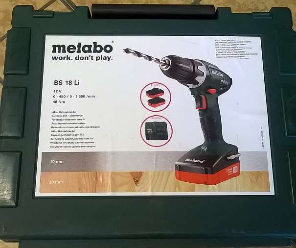 metabo akkuschrauber bs 18 li 129 99 8230 hartberg willhaben. Black Bedroom Furniture Sets. Home Design Ideas