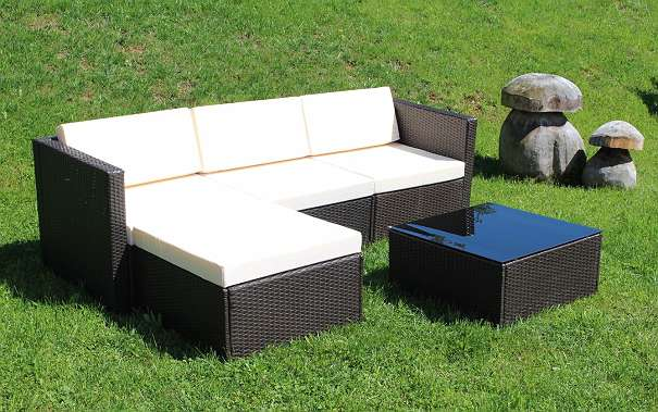 poly rattan gartenm bel lounge braun garnitur sitzgruppe model trend 359 4882 oberwang. Black Bedroom Furniture Sets. Home Design Ideas