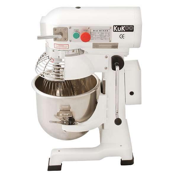 KuKoo Gastro 10L Planetenrührmaschine Spiral Rührmaschine Teigknetmaschine Knetmaschine Rührwerk Küchenmaschine Mixer mit Gratis Knetaufsätze + Teigschaber 10623