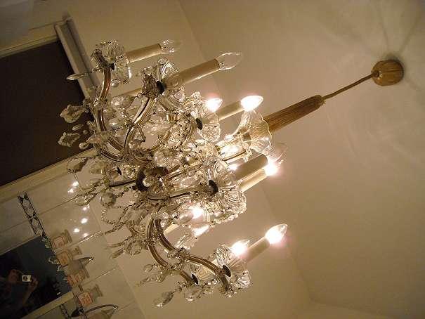 LUSTER LAMPE LEUCHTE Kristallluster Kristall Luster Kronleuchter Mit Kristallen Maria Theresia