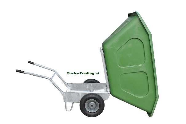 neu 500 liter doppelrad schubkarre scheibtruhe schiebetruhe schiebekarre futterwagen. Black Bedroom Furniture Sets. Home Design Ideas