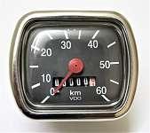 VDO – REPLIKA * Tacho 0- 60 km/ h * NEU * TOP-QUALITÄT * PUCH-KTM-KREIDLER-ZÜNDAPP-HERCULES
