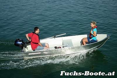 Aluboot Aluminium Boot Fischerboot Angelboot Motorboot Aluminiumboot Marine M12 Fuchs-Boote