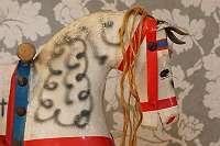 ORIGINALES SCHAUKELPFERD – die alte, nostalgische Deko für Anspruchsvolle! Vintage Schaukeltier Pferd Roß Spielzeug Puppe Teddy Bär Steiff Weihnachten Deko handgemacht Holz geschnitzt