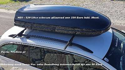 NEU LAGERND Dachbox Skibox Whale 520 Liter oder XXL Line 650 Liter schwarz anthrazit matt oder glänzend Dach Box Staubox Neumann Dachboxen Stauboxen Skiboxen für alle PKW TÜV geprüft