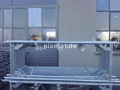 Baugerüst NEU Stahlboden L 2,57 Typ Layhergerüst ca. 81 m² Fassadengerüst Typ Layher Gerüst Stahlrahmen Kompatibiles