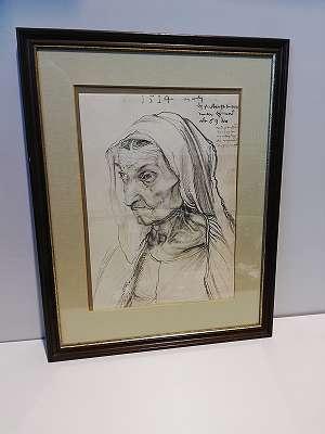 Druck- Bildnis der Mutter von Albrecht Dürer