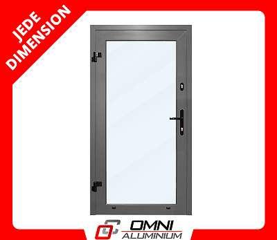 Türen Aluminiumtür nach Maß Türen aus Aluminium Haustür Eingangstüren mit seitenteil Alu Tür mit Glas Halle