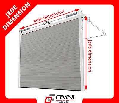 Industrietor auf Maß Industrie Tor Sektionaltor Garagentor 4250 x 3000 mm Sektional Carport Garage mit Tür